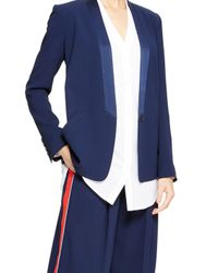 DKNY - Blue One Button Tuxedo Jacket - Lyst