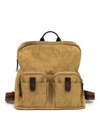 Lucky Brand | Natural Ashmore Canvas Backpack | Lyst