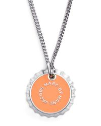 Marc By Marc Jacobs | Metallic 'lost & Found' Bottle Cap Pendant Necklace - Neon Orange | Lyst