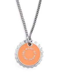 Marc By Marc Jacobs | 'lost & Found' Bottle Cap Pendant Necklace - Neon Orange | Lyst