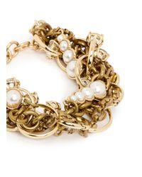 Lulu Frost | Metallic 'kinship' Jewel Ring Twist Chain Pearl Bracelet | Lyst