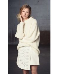 Tibi - White Cozy Alpaca Oversized Pullover - Lyst
