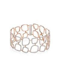 Monica Vinader - Metallic Riva Diamond Cluster Cuff - Lyst