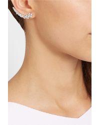 Kenneth Jay Lane   Metallic Rhodium-Plated Cubic Zirconia Ear Cuff   Lyst