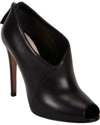 Prada - Black Peep Toe Ankle Bootie - Lyst