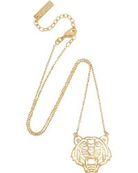 KENZO - Metallic Tiger Necklace - Lyst