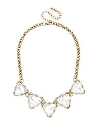 BaubleBar - Metallic Crystal Triad Collar - Lyst