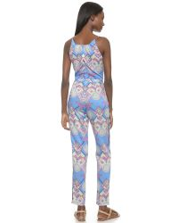 6 Shore Road By Pooja | Acapulco Jumpsuit - Blue Aztec | Lyst