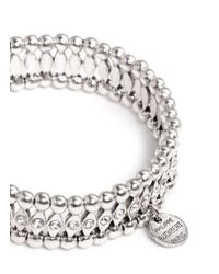 Philippe Audibert | Metallic Elixia Diamond-shape Rhinestone Bracelet | Lyst