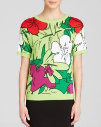Boutique Moschino | Green Pullover - Tropical Print | Lyst