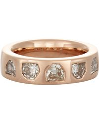 Dezso by Sara Beltran | Pink Women's Deco Diamond Band | Lyst