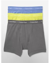 Calvin Klein - Yellow Underwear Cotton Stretch 3-pack Boxer Brief for Men - Lyst