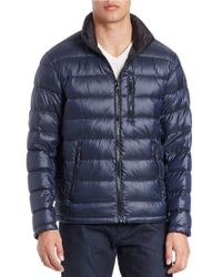 Calvin Klein | Blue Down Puffer Coat for Men | Lyst