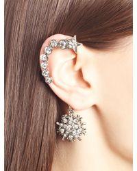 Oscar de la Renta - Metallic Swarovski Crystal Pavé Star Ear Cuff - Lyst