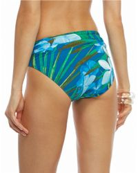 Carmen Marc Valvo | Blue Tropical Banded Swim Bottom | Lyst