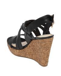 Jessica Simpson | Black Julita Leather Wedges | Lyst