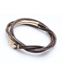 Nakamol | Metallic Itzel Wrap-brown/gold | Lyst