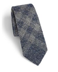 Burberry | Gray Rohan Plaid Tie for Men | Lyst