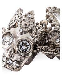 Alexander McQueen | Metallic 'king And Queen' Pendant Necklace | Lyst