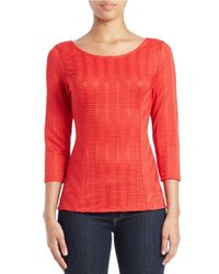 Guess | Orange Scoop-neck Knit Top | Lyst