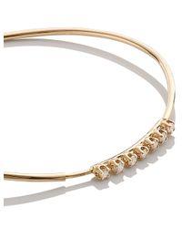 Loren Stewart | Metallic Gold 7 Diamond Bangle | Lyst