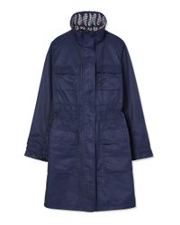 Tory Burch - Blue Reversible Anorak - Lyst