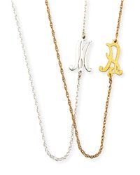 Jennifer Zeuner | Metallic Mini Initial Necklace | Lyst