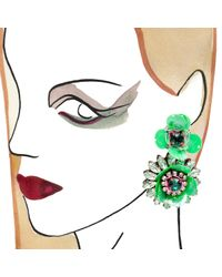 Shourouk | Flower Green Earrings | Lyst