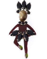 Marni | Black Lady-shaped Brooch | Lyst
