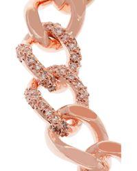 Kenneth Jay Lane | Pink Rose Gold-tone Crystal Bracelet | Lyst