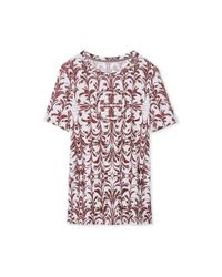 Tory Burch - Multicolor Printed Cotton T-shirt - Lyst