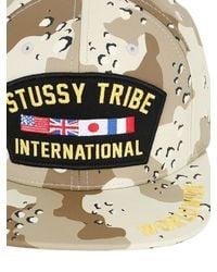 Stussy - Brown Veteran Cotton Baseball Hat for Men - Lyst