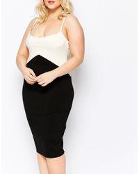 Vesper - Black Lucy Cami Dress In Monochrome - Lyst