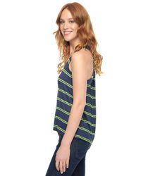 Splendid | Green Canvas Stripe Drape Back Tank | Lyst