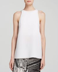 Helmut Lang | White Top - Raze Waffle Texture | Lyst