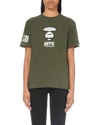 Aape - Natural Camo-back Cotton-jersey T-shirt - Lyst