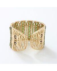 Wendy Yue - Green Tsavorite Cuff Bracelet - Lyst