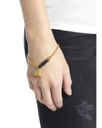 Marc By Marc Jacobs - Metallic Gold Tone Dice Bracelet - Lyst