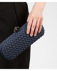 Bottega Veneta - Blue Prusse Intrecciato Silk Stretch Knot - Lyst