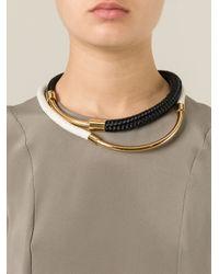 Marni - Black Braided Necklace - Lyst