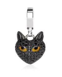 Theo Fennell   Metallic Black Cat Charm   Lyst