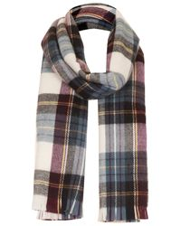 TOPSHOP | Blue True Plaid Check Scarf | Lyst