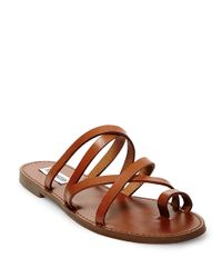 Steve Madden | Brown Antler Leather Sandals | Lyst