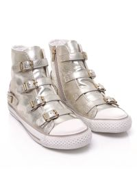 Ash - Metallic Virgin Buckle Trainers - Lyst