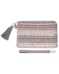 TOMS - Metallic Silver Beaded Stripe Party Pouch - Lyst
