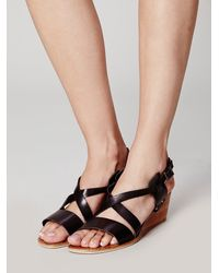 Bronx | Black Glimpse Mini Wedge | Lyst