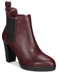 Bella Vita | Purple Zana Ankle Booties | Lyst