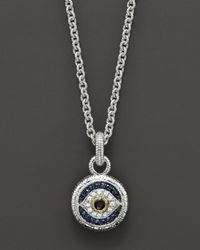 Judith Ripka | Metallic Silver Evil Eye Necklace | Lyst