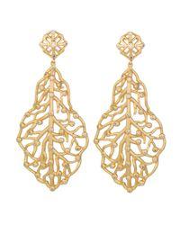 Kendra Scott - Metallic Pave Cz Branch Hourglass Earrings - Lyst