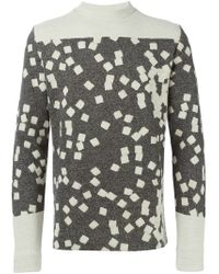 Stephan Schneider | Gray Tiles Jacquard Sweater for Men | Lyst